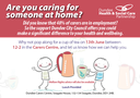 Are you caring for someone at home?