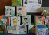 Artist boxes display