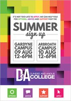 Dundee & Angus College - Summer Sign-up: 9 & 10 August