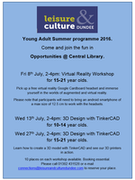 Summer opportunities @ Central Library