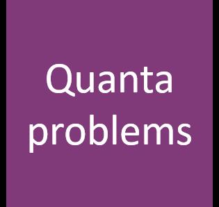 AH Quanta problems